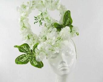 Light Green Wisteria Hair Comb Fascinator Headpiece Bridesmaid Floral Clip 1280