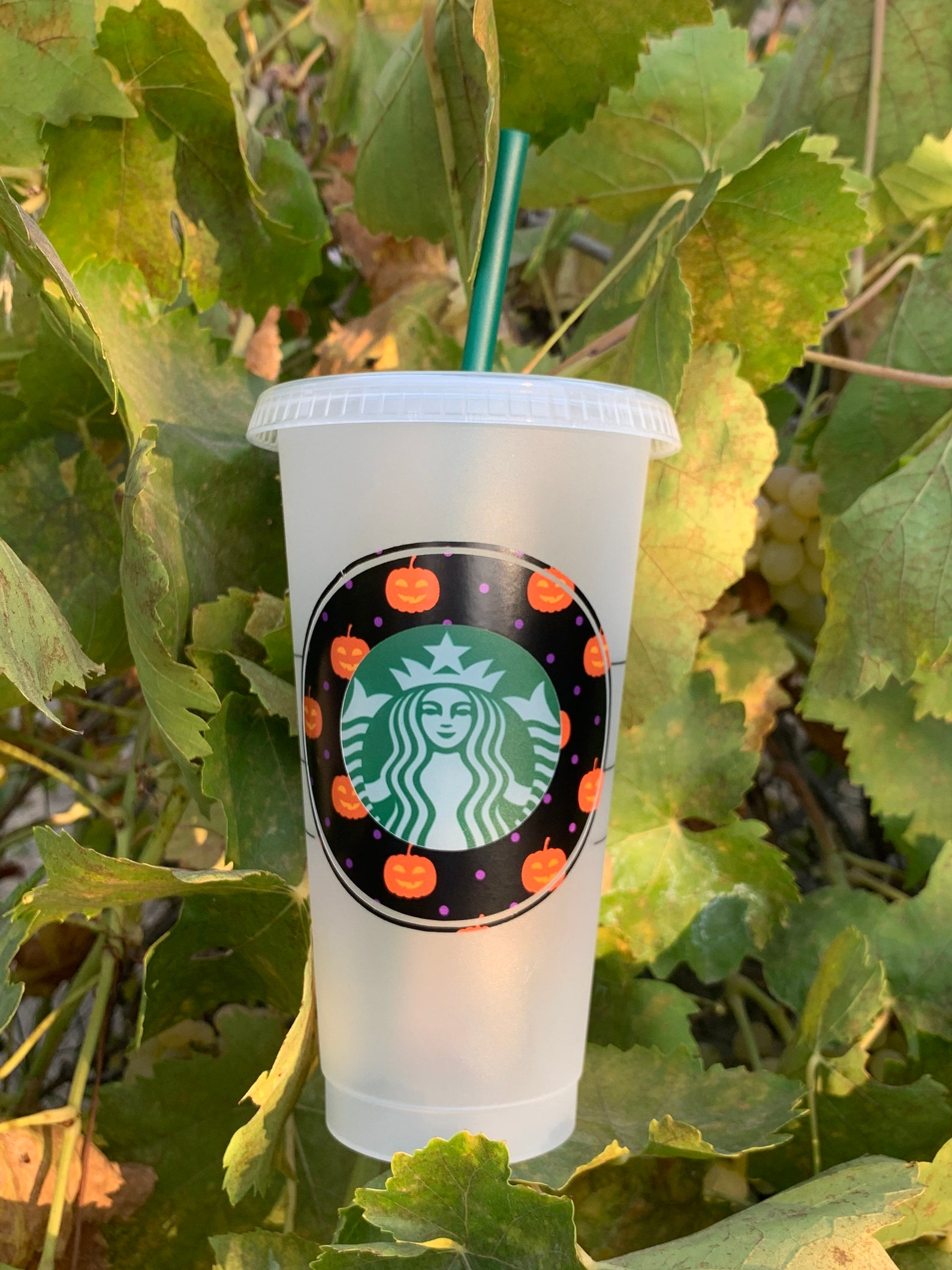 Jack O Lantern Starbucks Reusable Tumblers
