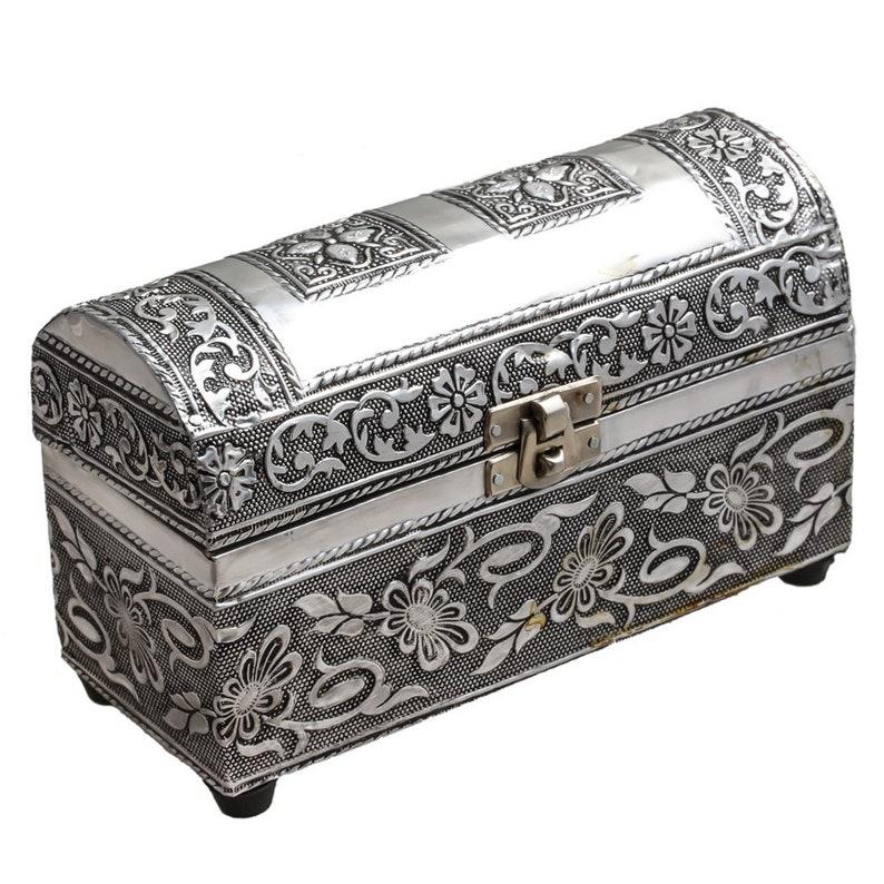 bangle box trinket storage Antique,Unique Item,silver plated,bangel box,Valentine Gift traditional Indian oxidized Vintage jewelry box