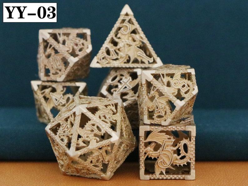 Hollow Dice D/&D Dice |D And D Dice D20 D6 Dice Handmade Dicel Dice Set Dnd Dice Dice Tray RPG Dice Blue Dice Dragon Dice