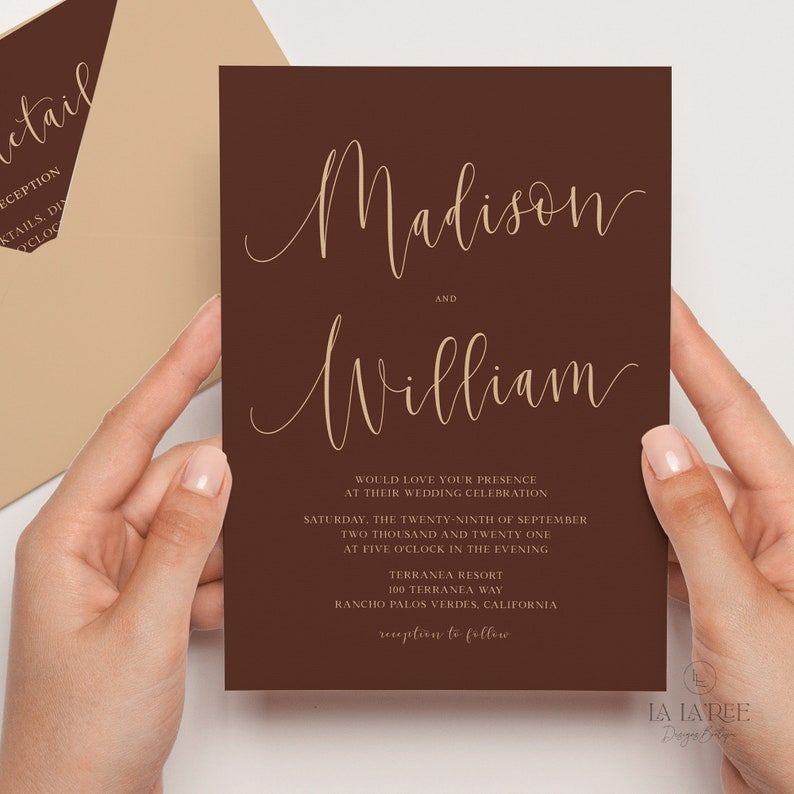 Simple Wedding Invitation Template Download Printable Minimalist Wedding Invitation Set A10 WEDDING INVITATION MINIMALIST Template