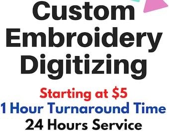 Custom Embroidery Digitizing, Logo Digitizing, Embroidery Digitizing Service, Image Digitizing Embroidery, Custom Digitize