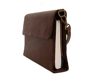 Leather Bible Covers for Women by Bekah Rose | Purse Style Case w/Removable Handle (Small and Medium Bibles)