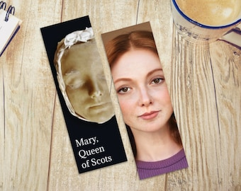 Mary, Queen of Scots Bookmark Double Sided - 2 options | Tudor History Bookmark | English Monarchy | Royals | Elizabeth I | Mary Stuart