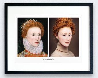Elizabeth I Prints - 2 options | Giclee | History Prints | Historical Figures | Tudor History | Henry VIII | Anne Boleyn | English History