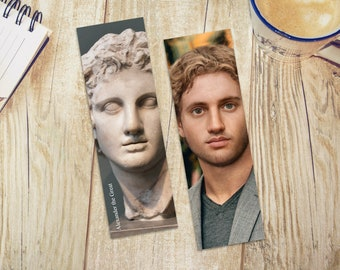 Alexander the Great Bookmark Double Sided | History Lovers | Gifts for Him | History Bookmark | Statue Recreation | Emperors