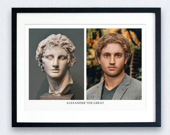 Alexander the Great Prints - 2 OPTIONS | Art Prints | Giclee | History Prints | Historical Figures | Gifts for Him | Great Men of History