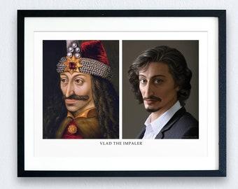 Vlad the Impaler Prints - the Modern Face of the Evil Ruler | History Prints | Historical Figures | Recreation | European History Art