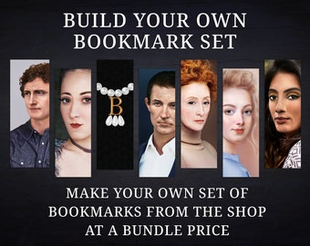 Create your own Bookmark Set - Original Portraits on one side and recreation on the other | Royalty Now Bookmarks | History Bookmarks