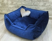Velvet pet bed-exclusive dog bed-bed for small medium and large dogs-durable bed - sleeping place for a cat-bed for a princess-toy as a gift