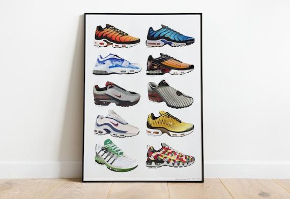 Nike TN History Poster 1998 2008 Art Poster Air Max Plus tn | Etsy