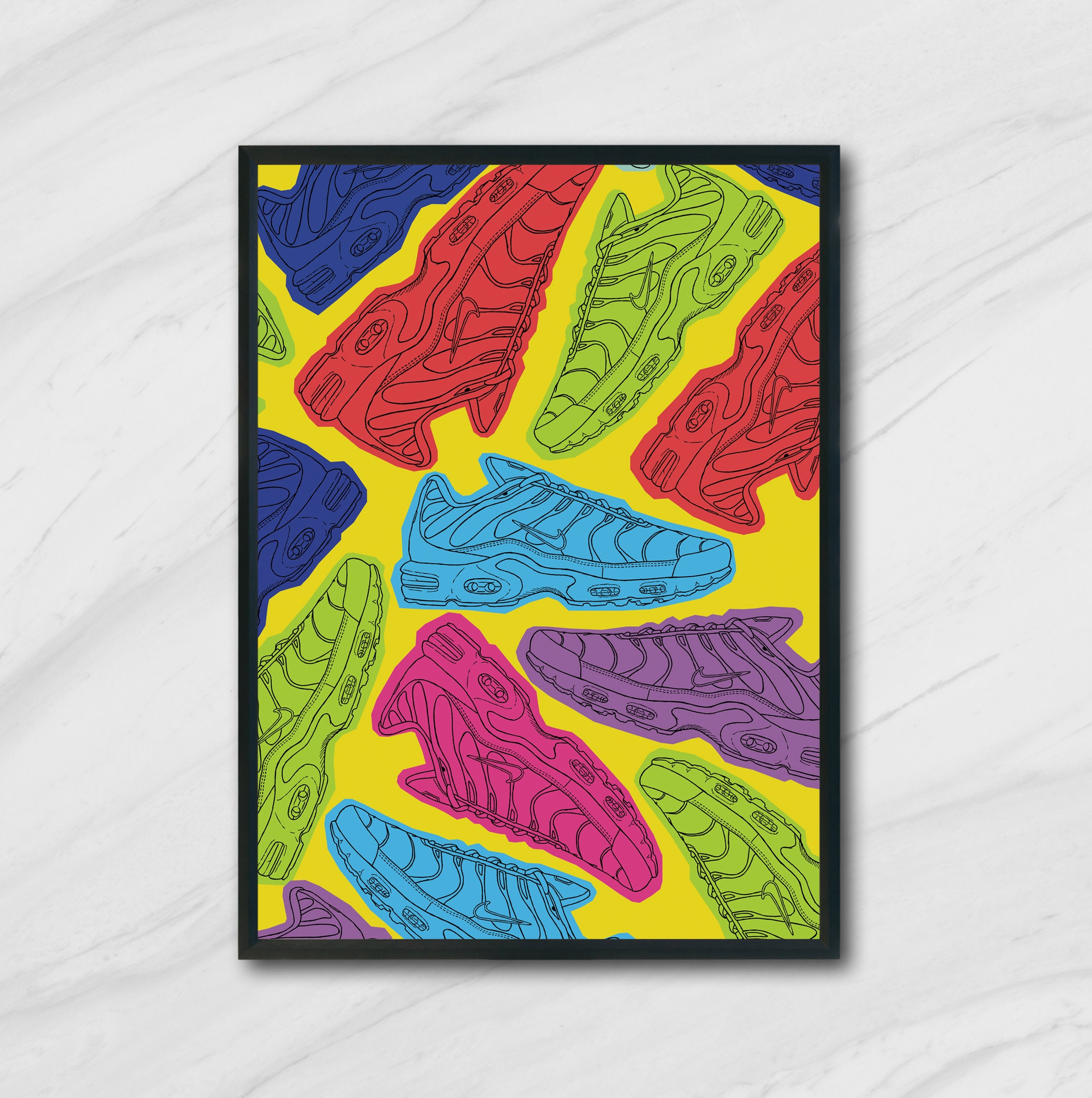 Nike TN Sneakers Pop Art Print Poster Illustration A4 or A3 | Signed by Artist & FREE GIFT