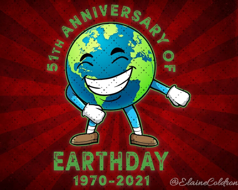 Gifts for Earth Lovers Earth Day Digital Instant Download Earth Day 2021 51th Anniversary 1970 2021 Ecology Environment PNG Digital File