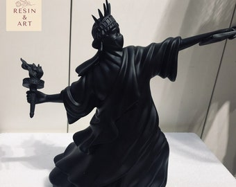 European Style Black Resin Statue of Liberty Sculpture For Christmas Gift, Living Room, Bedroom, Dinning Room, Interior Design