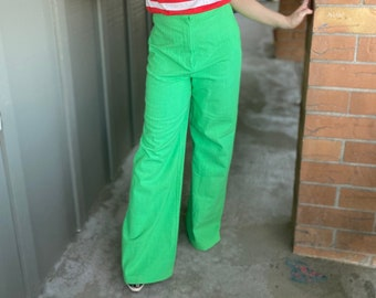 Waist 25 Textural Pants Vintage 1980s Elastic Waistband High waisted High rise Mom jeans Tapered leg Statement Lounge Pants