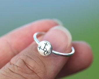 925 silver sigil of lilith ring,Seal Sigil of Lilith jewelry,Mythology jewelry,Triple Goddess ring,moon jewelry,Pagan jewelry,Wiccan Jewelry