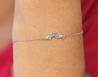 Personalised Gold Running Bunny Rabbit Bracelet