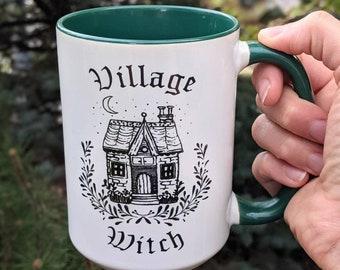 Halloween Mug | Halloween Village Witch | Witchy Mug | Halloween Cup | Fall Coffee Mug