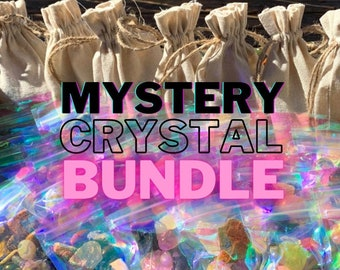 Mystery Crystal Bundle bags | Random Crystals | Discounted Misfits, Tumbles, Palm Stoned, Raw Stones