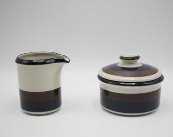 Arabia Vintage KAIRA W\u00e4rtsil\u00e4 Finland small pot Scandinavian modern design handpainted blue and black Suomi retro serving highly collectible