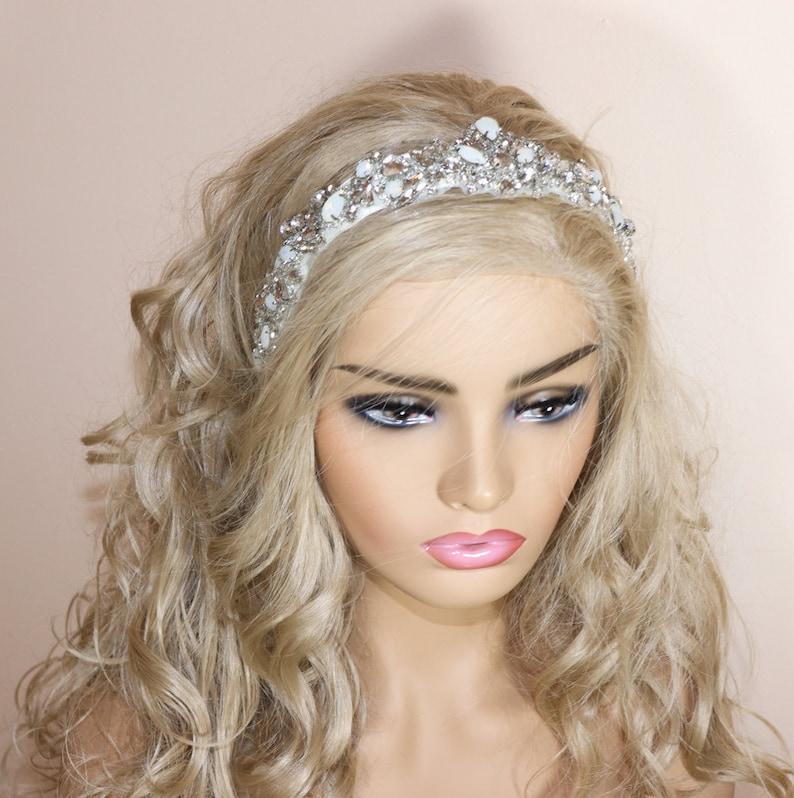 Wedding Headband SL30022 wedding headpiece Crystal Wedding Headband Wedding Hair Vine Crystal Headpiece