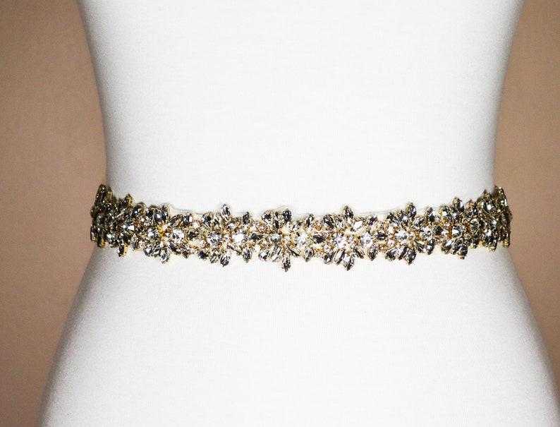 Wedding Belt Wedding Bridal Sash Belt Jeweled Part Silver Clear Crystal Wedding Sash Belt BT70003