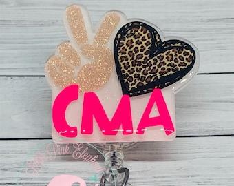 Fun Badge Reel CMA Badge Reel CMA Badge Reels Cute Badge Reel Certified Medical Assistant Badge Reel