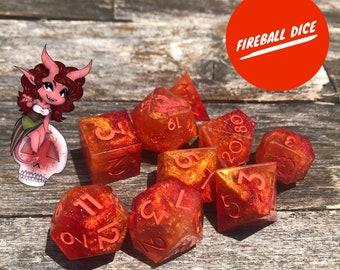 Made to Order: Fireball Dice Set