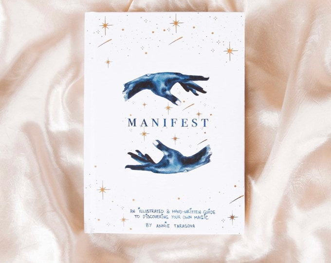 MANIFEST Gold Foil Journal and Notebook | Journals for Women | Occult Journals | Manifestation Journal, Unique Journals
