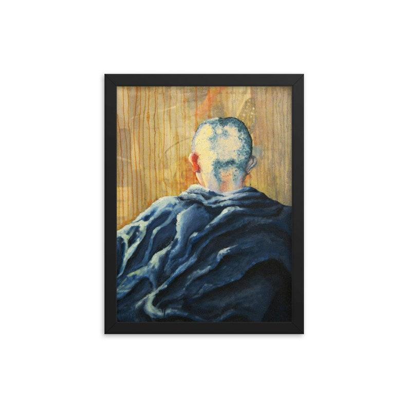 framed art print Monk