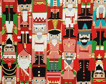 """Alexander Henry """" Nutcracker Sweet """" 44"""" Wide 100% Cotton Quilting Fabric - 9"""" Remnant  