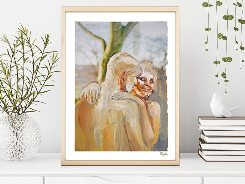 Giclee Art Print /'In your eyes/' From Oil painting series /'Magazine series/'