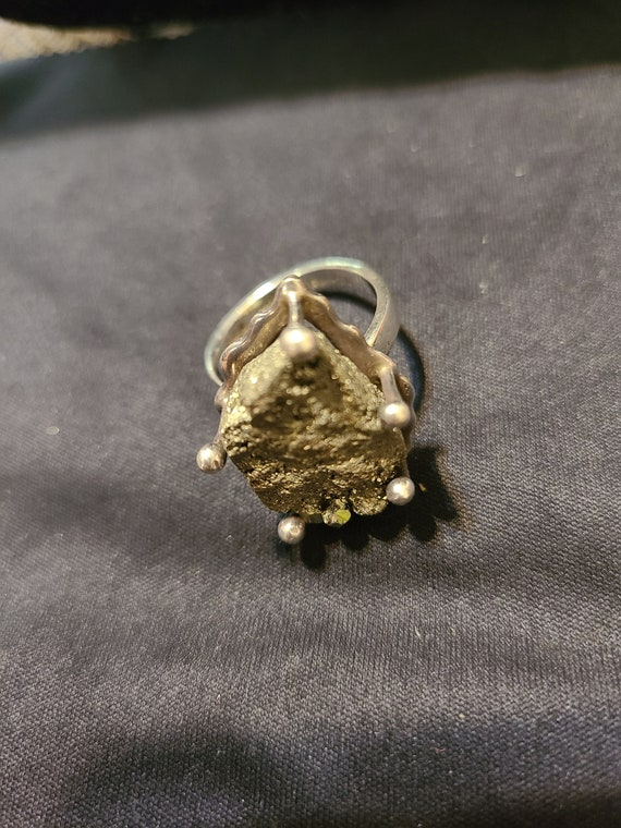 Sterling silver and rock stone ring