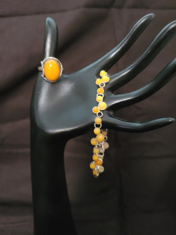 Baltic sea amber 2 piece set