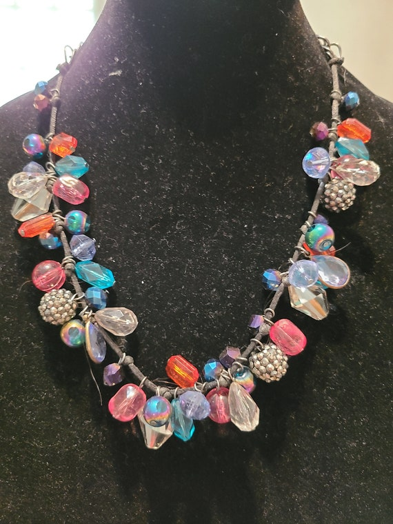 Beautiful chain and rope with multi colored beads