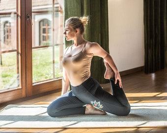 Woolen yoga mat / Natural Pure Merino wool yoga rug / Woolmark certyficate Gymnastics Mat
