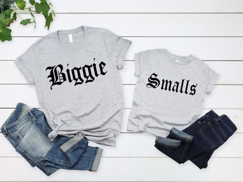 Biggie-Smalls Shirt,Dad and Son Shirts,Dad and Daughter Shirts,Father/'s Day Gift,Dad and Me Matching Shirts,Father/'s Day Matching Shirts