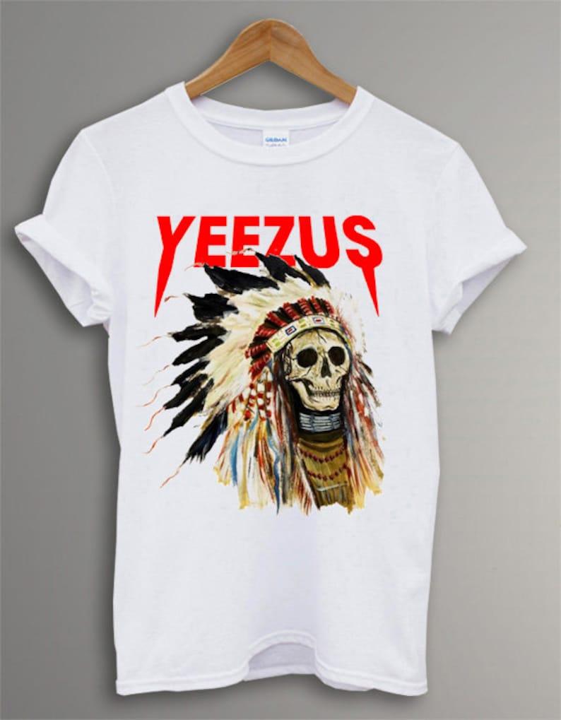 Kanye West Yeezus Tour T Shirt Funny gift Men and Women T-Shirt tee size S-2XL KS-34