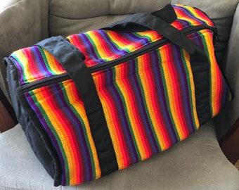 JACKFRUIT Beach-BagDrawstring Bag Multi Colour Crazy Pattern Festival Gym Holiday Fresh Prince Aztec Gypsy Pouch Boho Funky Bubble Red