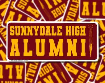 Sunnydale High Alumni weatherproof vinyl Buffy the Vampire slayer sticker