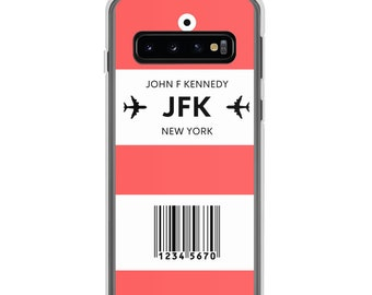 Choose Your 3-Letter Airport City Code Luggage Tag Personalized Red Samsung Case