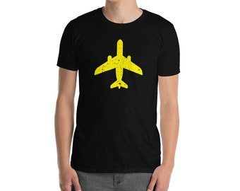 Yellow Plane Short-Sleeve Unisex T-Shirt - The perfect aviation lover gift!