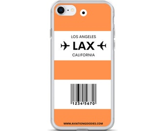 Choose Your 3-Letter Airport City Code Luggage Tag Personalized iPhone Case