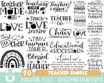 Teacher Svg Bundle,Teacher Svg,Teacher Life Svg,Teacher Quote Svg,School Svg,Back to School Svg,Teacher Appreciation Svg,Instant Download