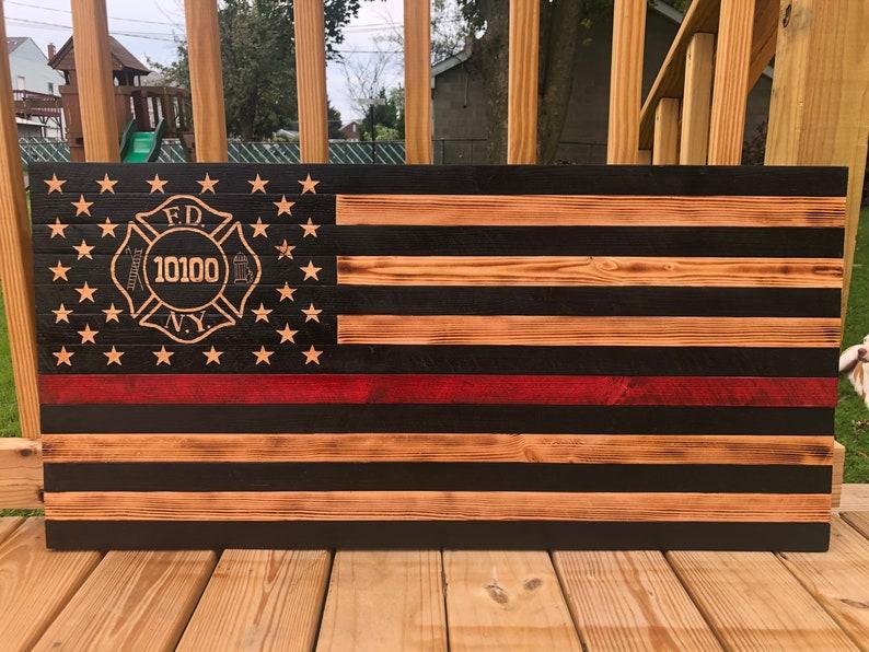 Custom Wooden Flag