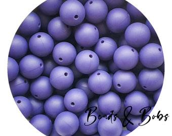 Silicone Bow beads for jewellery and craft projects Candy Purple