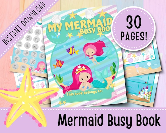 Mermaid Busy Book for Toddlers  Girl Busy Book  Busy Binder