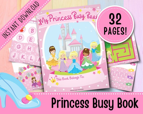 Princess Busy Book for Toddlers  Girl Busy Book  Busy Binder
