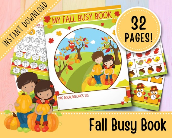 Fall Busy Book for Toddlers  Thanksgiving Busy Book  Busy