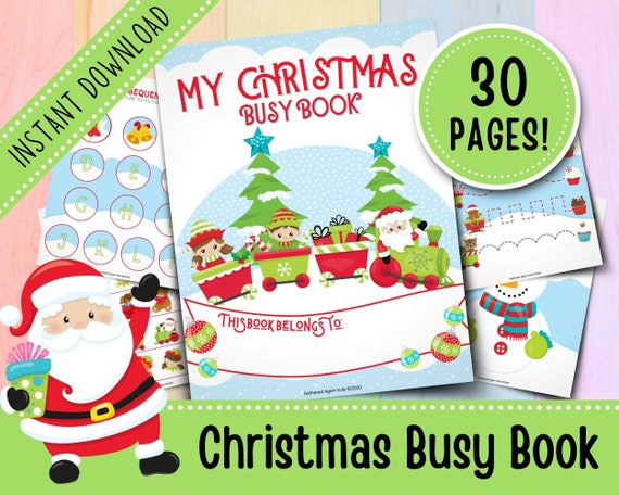 Christmas Busy Book for Toddlers  Busy Binder  Quiet Books